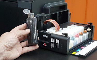 Dispenser na Impressora Sublimática