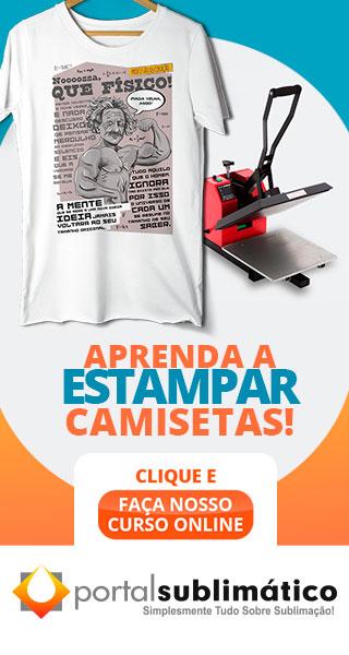 614005d475 Camiseta de Algodão X Camiseta de Malha PV - Portal Sublimático