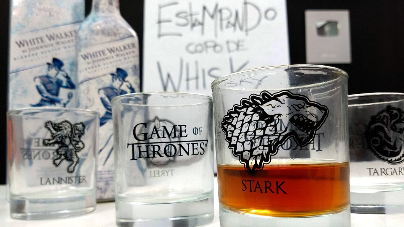 estampar copos de vidro - copos de whisky