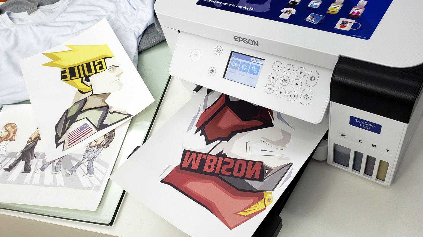 Como Estampar Camisetas - Sublimação com Epson F170 - Portal Sublimatico